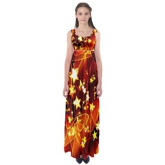 Background Pattern Lines Oval Empire Waist Maxi Dress