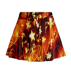 Background Pattern Lines Oval Mini Flare Skirt
