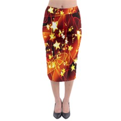 Background Pattern Lines Oval Midi Pencil Skirt