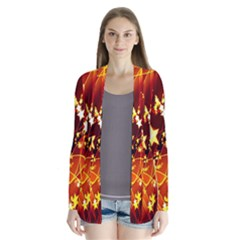 Background Pattern Lines Oval Cardigans
