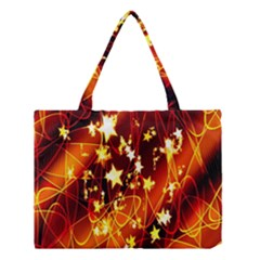 Background Pattern Lines Oval Medium Tote Bag