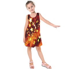 Background Pattern Lines Oval Kids  Sleeveless Dress