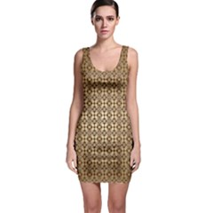 Background Seamless Repetition Sleeveless Bodycon Dress