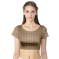 Background Seamless Repetition Short Sleeve Crop Top (Tight Fit)