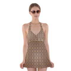 Background Seamless Repetition Halter Swimsuit Dress