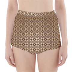Background Seamless Repetition High Waisted Bikini Bottoms