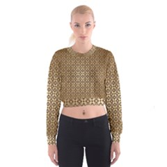 Background Seamless Repetition Women s Cropped Sweatshirt