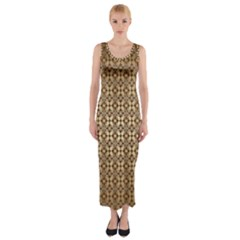 Background Seamless Repetition Fitted Maxi Dress