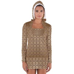 Background Seamless Repetition Women s Long Sleeve Hooded T Shirt