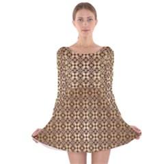 Background Seamless Repetition Long Sleeve Velvet Skater Dress