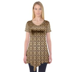 Background Seamless Repetition Short Sleeve Tunic