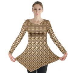 Background Seamless Repetition Long Sleeve Tunic