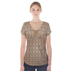 Background Seamless Repetition Short Sleeve Front Detail Top