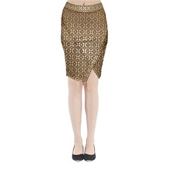 Background Seamless Repetition Midi Wrap Pencil Skirt