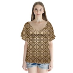Background Seamless Repetition Flutter Sleeve Top