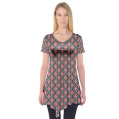 Background Pattern Texture Short Sleeve Tunic