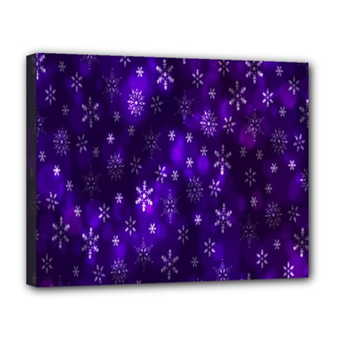 Bokeh Background Texture Stars Canvas 14  X 11