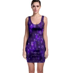 Bokeh Background Texture Stars Sleeveless Bodycon Dress