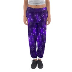 Bokeh Background Texture Stars Women s Jogger Sweatpants