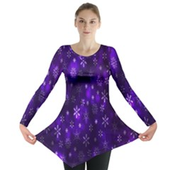Bokeh Background Texture Stars Long Sleeve Tunic