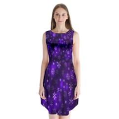 Bokeh Background Texture Stars Sleeveless Chiffon Dress