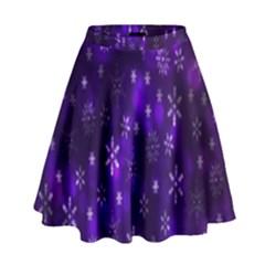 Bokeh Background Texture Stars High Waist Skirt
