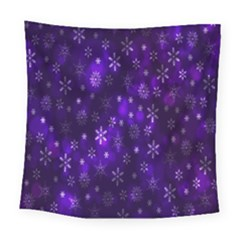 Bokeh Background Texture Stars Square Tapestry (large)