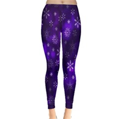 Bokeh Background Texture Stars Leggings