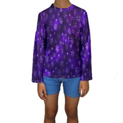 Bokeh Background Texture Stars Kids  Long Sleeve Swimwear