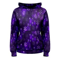 Bokeh Background Texture Stars Women s Pullover Hoodie
