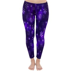 Bokeh Background Texture Stars Classic Winter Leggings