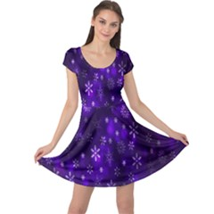 Bokeh Background Texture Stars Cap Sleeve Dresses
