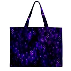 Bokeh Background Texture Stars Zipper Mini Tote Bag