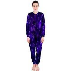 Bokeh Background Texture Stars Onepiece Jumpsuit (ladies)