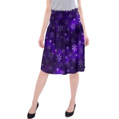 Bokeh Background Texture Stars Midi Beach Skirt