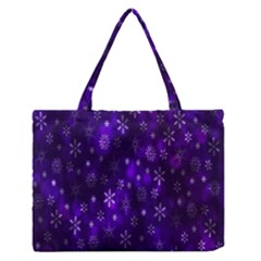 Bokeh Background Texture Stars Medium Zipper Tote Bag