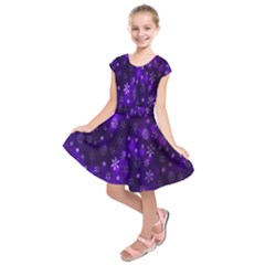 Bokeh Background Texture Stars Kids  Short Sleeve Dress