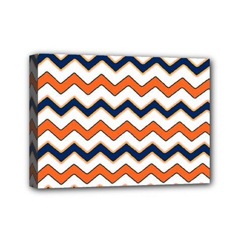 Chevron Party Pattern Stripes Mini Canvas 7  X 5