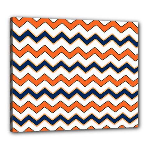 Chevron Party Pattern Stripes Canvas 24  X 20