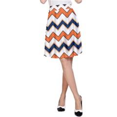 Chevron Party Pattern Stripes A Line Skirt