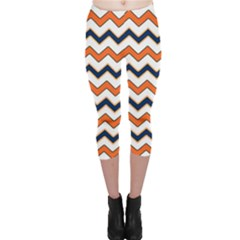 Chevron Party Pattern Stripes Capri Leggings