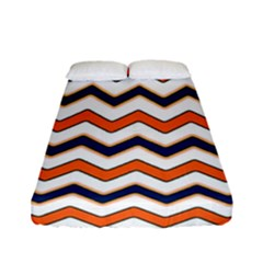 Chevron Party Pattern Stripes Fitted Sheet (full/ Double Size)