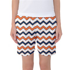 Chevron Party Pattern Stripes Women s Basketball Shorts