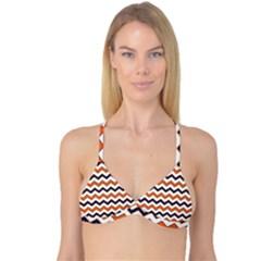 Chevron Party Pattern Stripes Reversible Tri Bikini Top