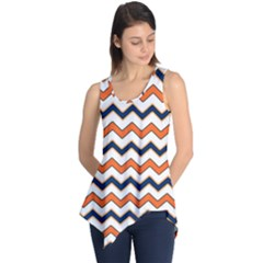 Chevron Party Pattern Stripes Sleeveless Tunic
