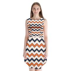 Chevron Party Pattern Stripes Sleeveless Chiffon Dress