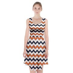 Chevron Party Pattern Stripes Racerback Midi Dress
