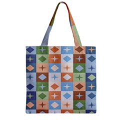 Fabric Textile Textures Cubes Grocery Tote Bag