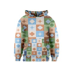 Fabric Textile Textures Cubes Kids  Pullover Hoodie