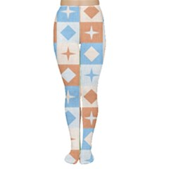 Fabric Textile Textures Cubes Women s Tights